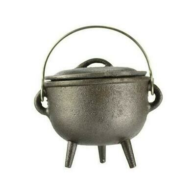 Plain cast iron cauldron 4