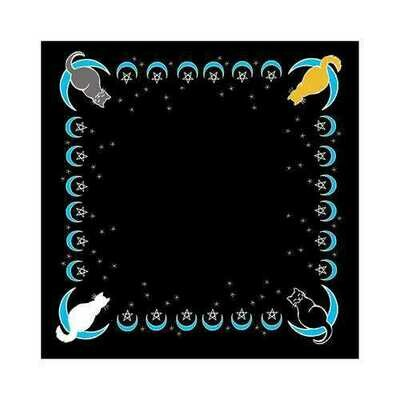 Moon Cat altar cloth or scarve 36