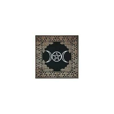 Triple Moon Pentagram altar cloth 24