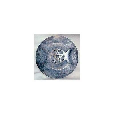 Soapstone Triple Moon altar tile 3