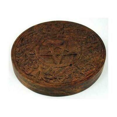 Wooden Pentagram altar tile 6