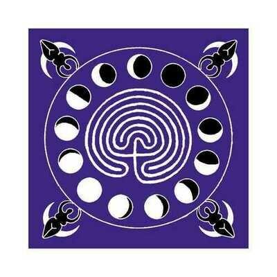 Goddess Labrinth altar cloth or scarve 36