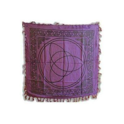 Purple Triquetra altar cloth 36