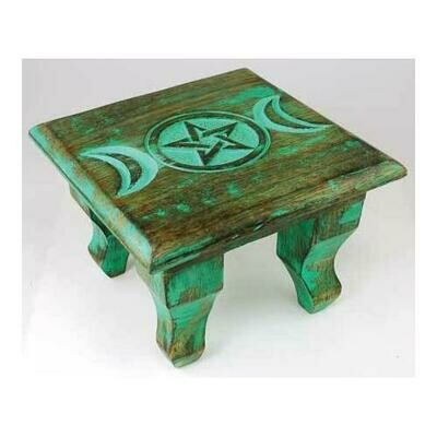 Antiqued Triple Moon altar table 6