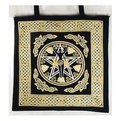 Pentagram Goddess Tote Bag