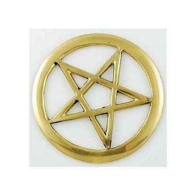 Brass Cut-Out Pentagram 3