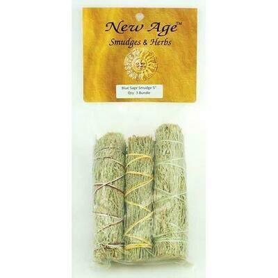 Blue Sage smudge stick 3pk 4