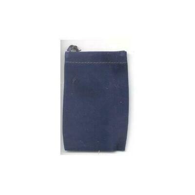 Blue Velveteen Bag