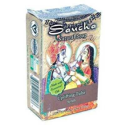 3.5oz Uplifting Tulsi saucha soap