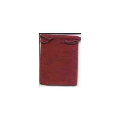 Burgundy Velveteen Bag