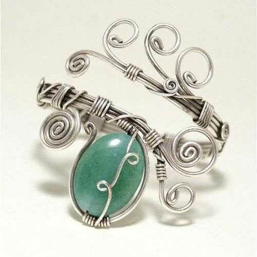 Handmade Green Aventurine Cuff Bracelet