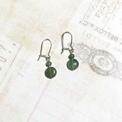 Aventurine Green Stone Earrings - Natural Artist