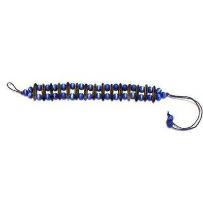 Acacia Rainforest Seed and Royal Blue Crystal Bracelet - Natural Artist