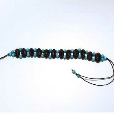 Guanacaste Rainforest Seed and Turquoise Crystal Bracelet - Natural Artist