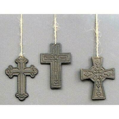 Cast Iron Crosses Set of 3