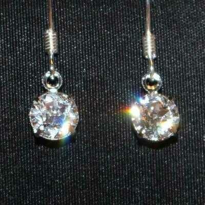 Swarovski Crystal Drop Earrings - Natural Artist