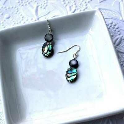 Beautiful Abalone Shell Drop Earrings - Natural Artist