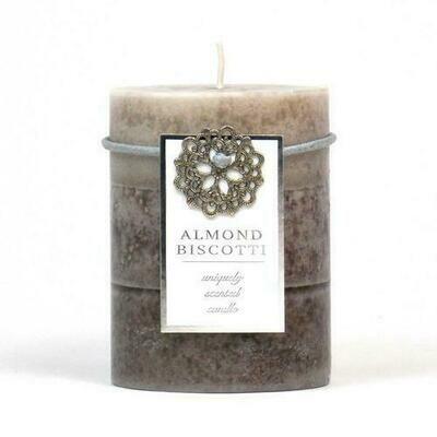 Almond Biscotti Pillar Candle 3X4