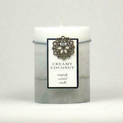 Creamy Coconut Pillar Candle 3X4