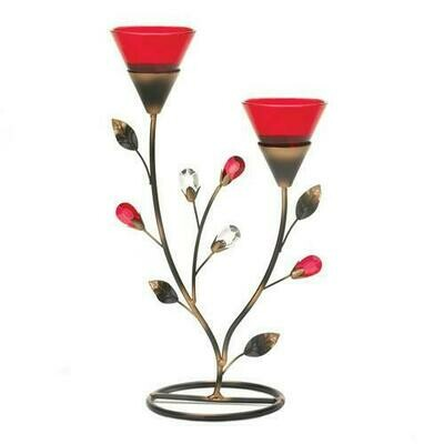 Ruby Blooms Candle Holder