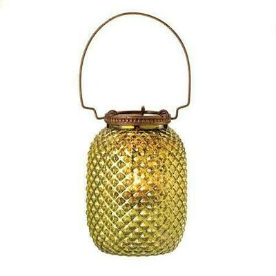 Green Diamond Candle Lantern