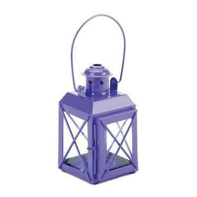 Purple Railway Candle Lantern Lamp