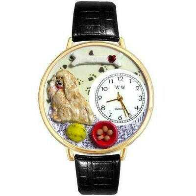 Cocker Spaniel Watch in Gold (Large)
