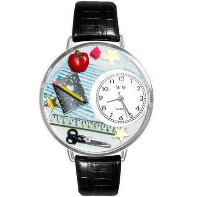 Teacher Watch in Silver (Large)