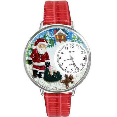 Christmas Santa Claus Watch in Silver (Large)