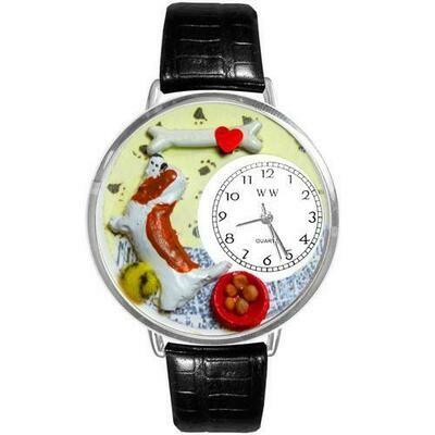 Basset Hound Watch in Silver (Large)
