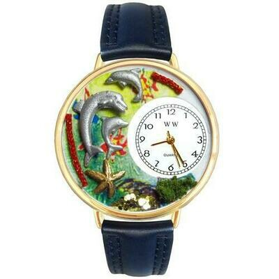 Dolphin Watch in Gold (Large)