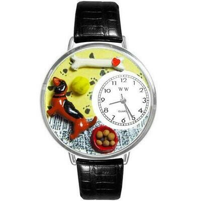 Dachshund Watch in Silver (Large)