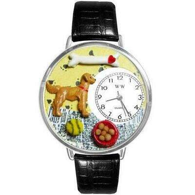 Golden Retriever Watch in Silver (Large)