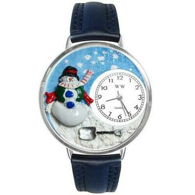 Christmas Snowman Watch in Silver (Large)