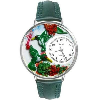 Hummingbirds Watch in Silver (Large)
