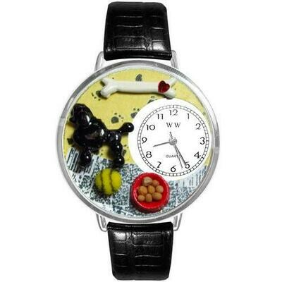 Poodle Watch in Silver (Large)