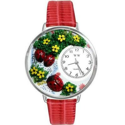 Ladybugs Watch in Silver (Large)