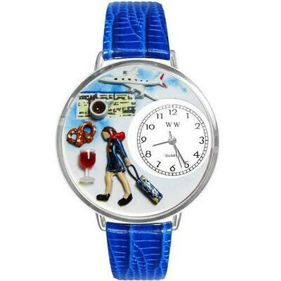 Flight Attendant Watch in Silver (Large)