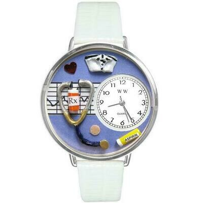 Nurse Purple Watch in Silver (Large)