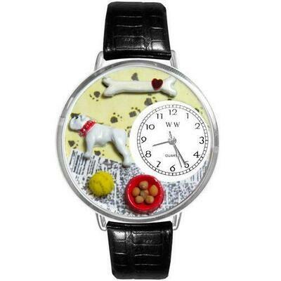 Bulldog Watch in Silver (Large)