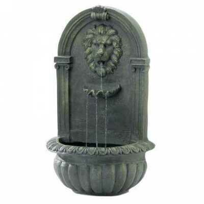 Mossy Green Lion Wall Fountain (pack of 1 EA)