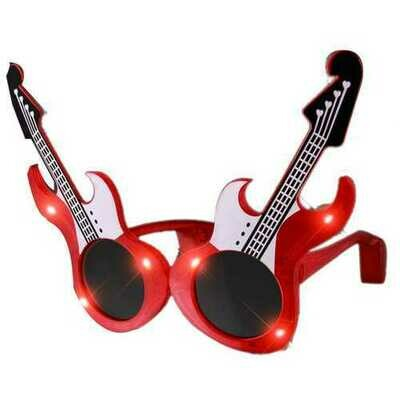 Guitar LED Sunglasses Red