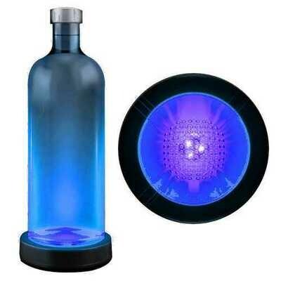 Blue LED Switch Activated  Bottle Base Light Display Drink Coaster