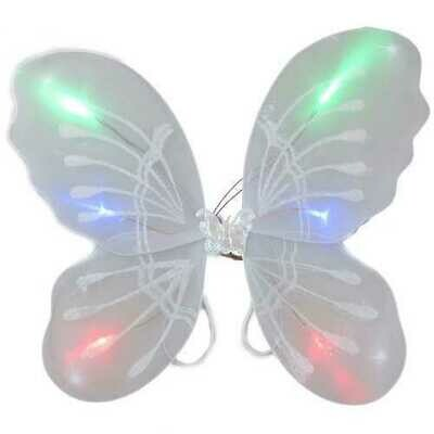 Light Up White Fairy Butterfly Wings