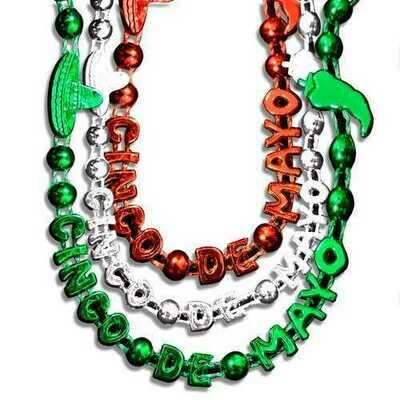 Cinco De Mayo Bead Necklaces Assorted Pack of 12