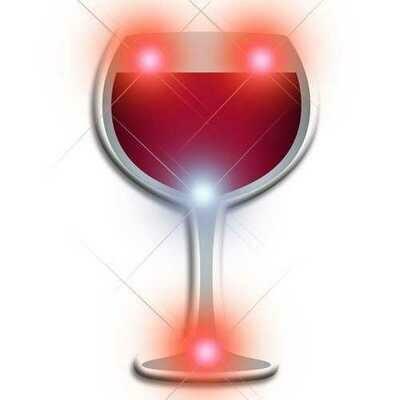 Wine Flashing Body Light Lapel Pins