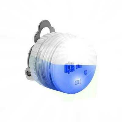 Blue White Clip Flashing Body Light Lapel Pins