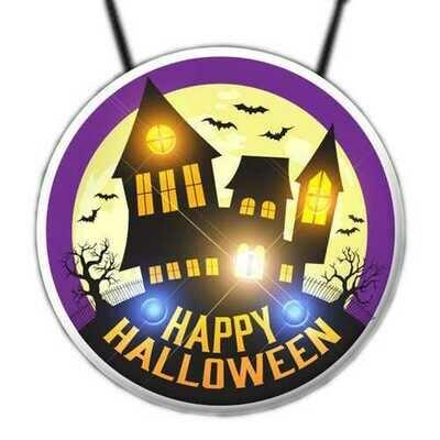 Flashing Haunted House Necklace