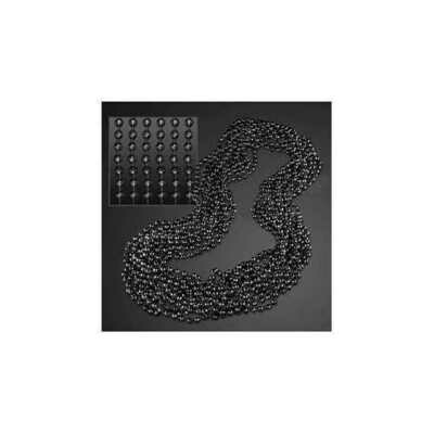 Round Disco Bead Necklace Pack of 12 Black