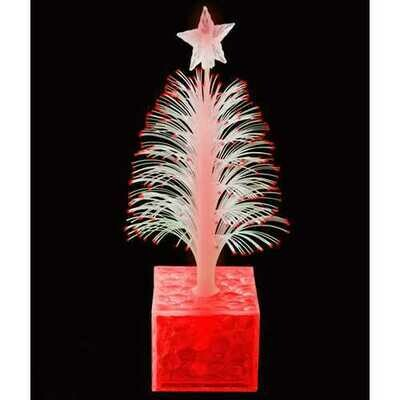 Christmas Tree Fiber Optic Centerpiece Red